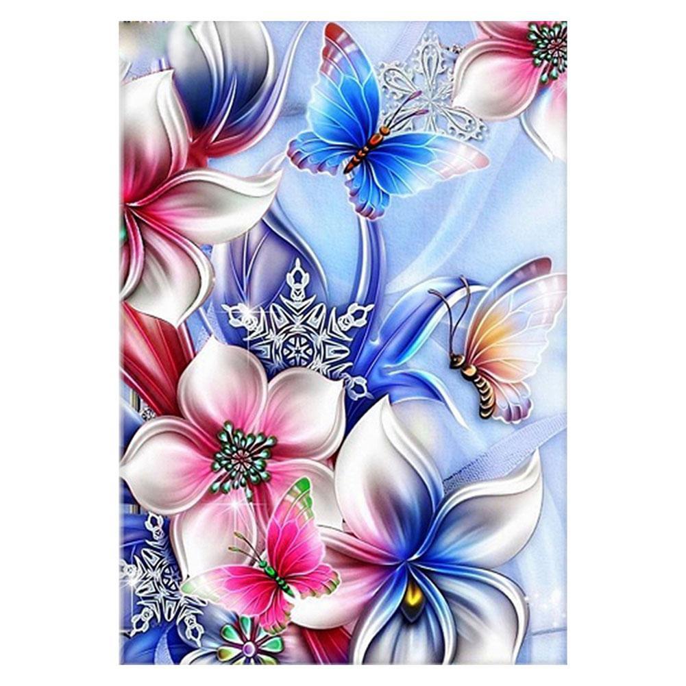 Yves Lukisan Diamond 5D DIY Gambar Bunga Kupu Kupu Untuk Dekorasi Rumah