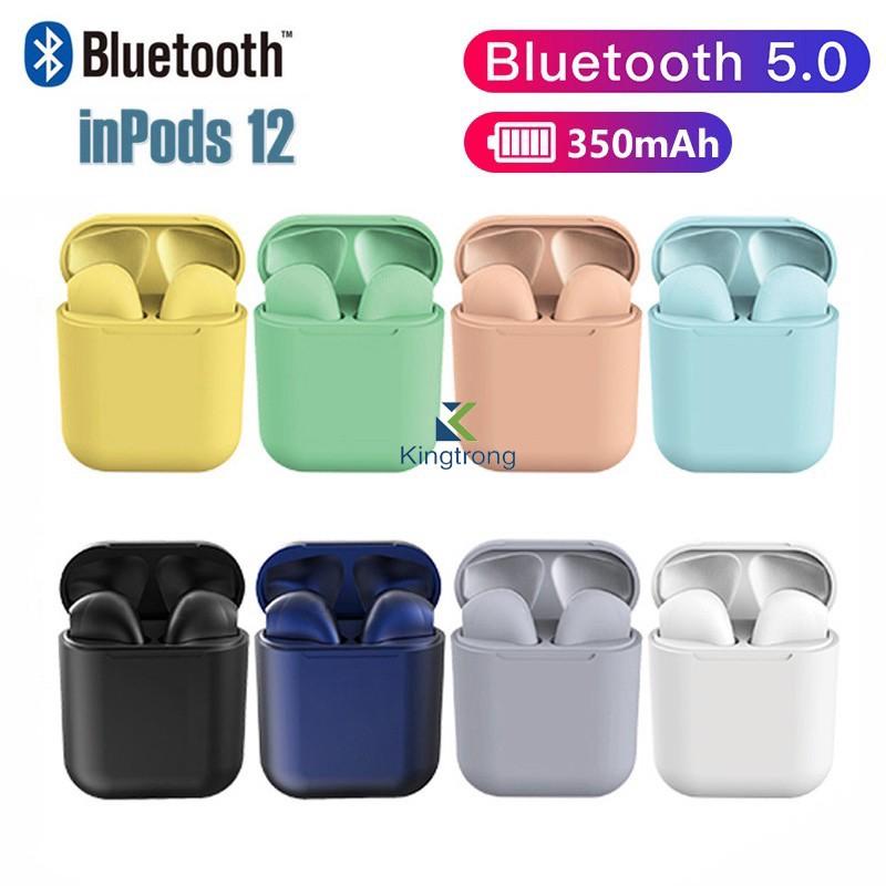 Airs Pro Macaron Earphone I12 Tws Headphones Android Earpods Bluetooth Headset Inpods 12 Shopee Indonesia