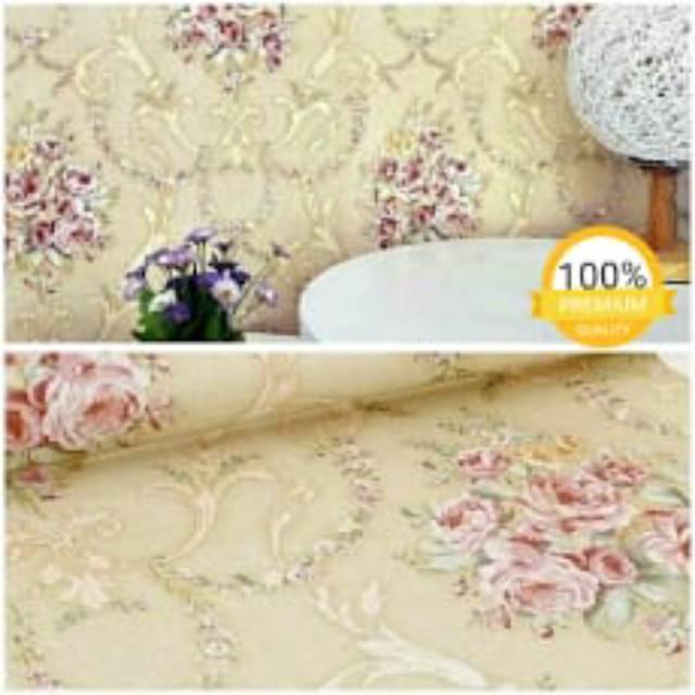 Wallpaper Dinding Bunga Mawar Pink Perpaduan Warna Peach Cantik Sekali Termurah Terlaris Tepercaya Shopee Indonesia