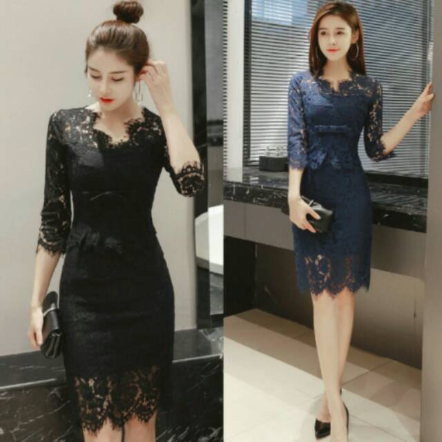 Longdress Pesta Dress Kantor Gaun Import Dress Pesta Dress