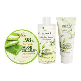 [BIG SALE 3pcs] Aloe Vera Soothing Gel+Healing Herb Cleansing Foam+Healing Herb Cleansing Water thumbnail