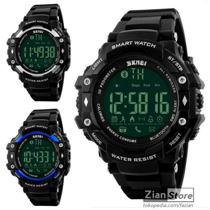 SKMEI Bluetooth Jam Tangan Olahraga Smartwatch 1226 DG1226 BL | Shopee Indonesia