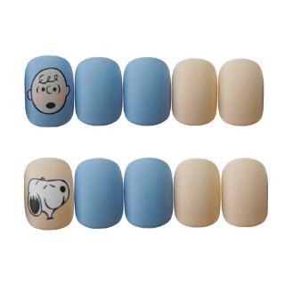 24 Kotak Stiker Kuku Palsu Motif Snoopy Warna Biru Muda Dapat Dilepas 7