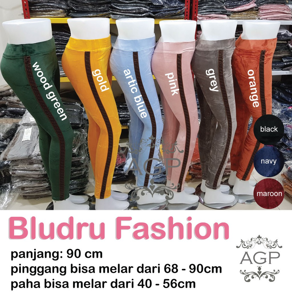 Legging Bludru Velvet Fashion Legging Bludru Fashion Wanita Jumbo Agape Bludru Ff Shopee Indonesia