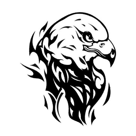 Gambar Logo Kepala Elang Hitam Putih Stiker Sticker Skotlet Kepala Elang Eagle Metalik Metallic Mobil Motor Cutting Shopee Indonesia