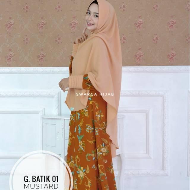Gamis Batik Swarga Hijab Shopee Indonesia