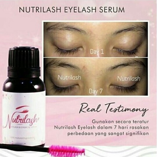 SERUM BULU MATA & ALIS   EYELASH & EYEBROW BOOSTER SERUM   100% NATURAL   Shopee Indonesia