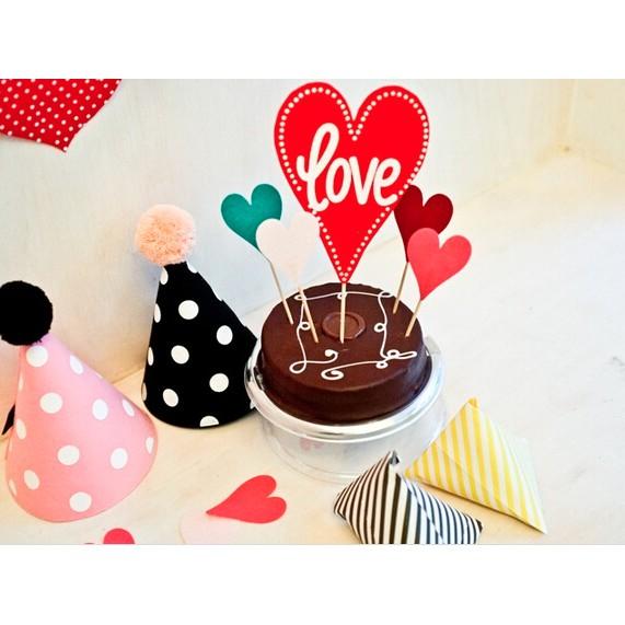 Topper Kue Ulang Tahun Love Valentine Cinta Pacar Hati Hiasan Shopee Indonesia