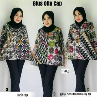 Blus Batik Wanita Modern Baju Kerja Wanita Terbaru 2018 Model