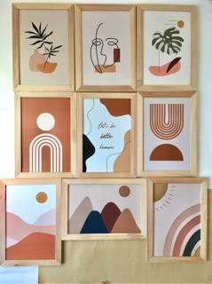 framehay hiasan dinding aesthetic walldecor cathy abstract