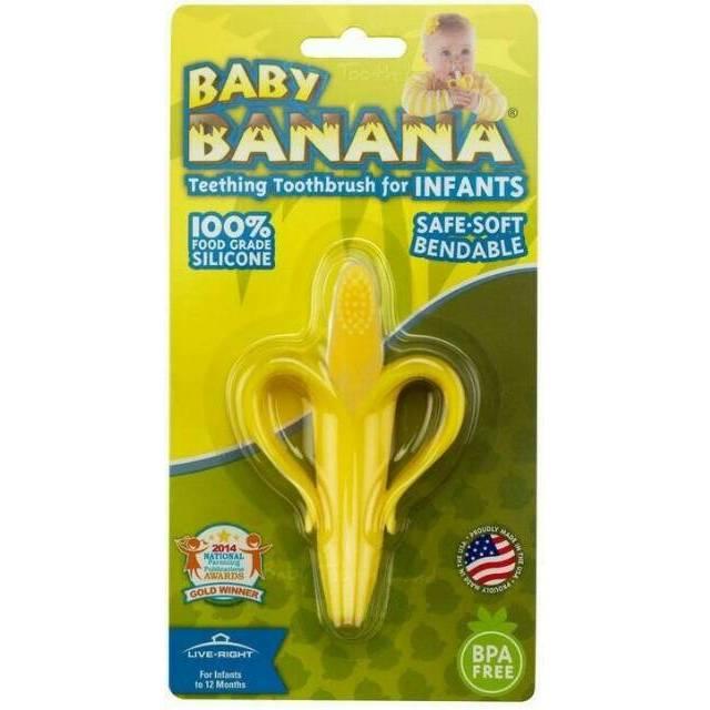 teether baby toothbrush banana gigitan bayi sikat gigi pisang tooth brush  0b107fc6ed