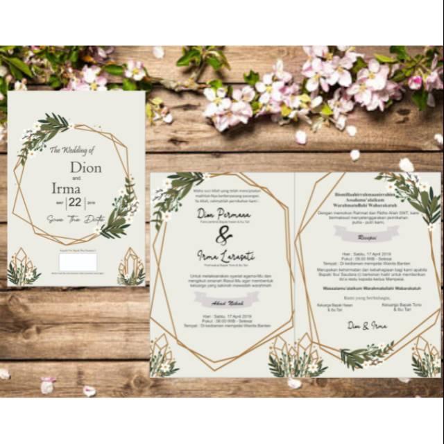 20+ Ide Desain Undangan Pernikahan Tema Rustic - Feiwie ...