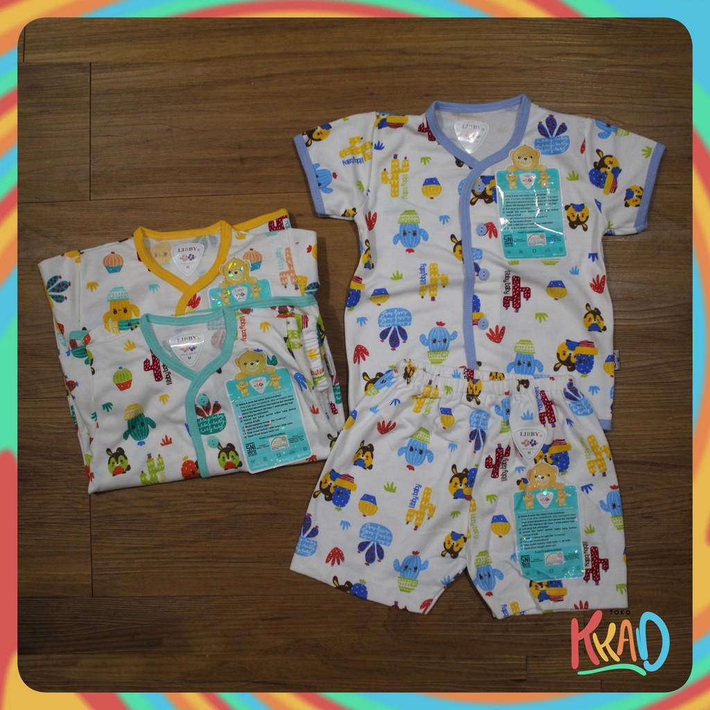 Kaos Lengan Pendek Tee 5 In 1 Kancing Pundak Baju Baby Cewek Umur 24 Pakaian Bayi