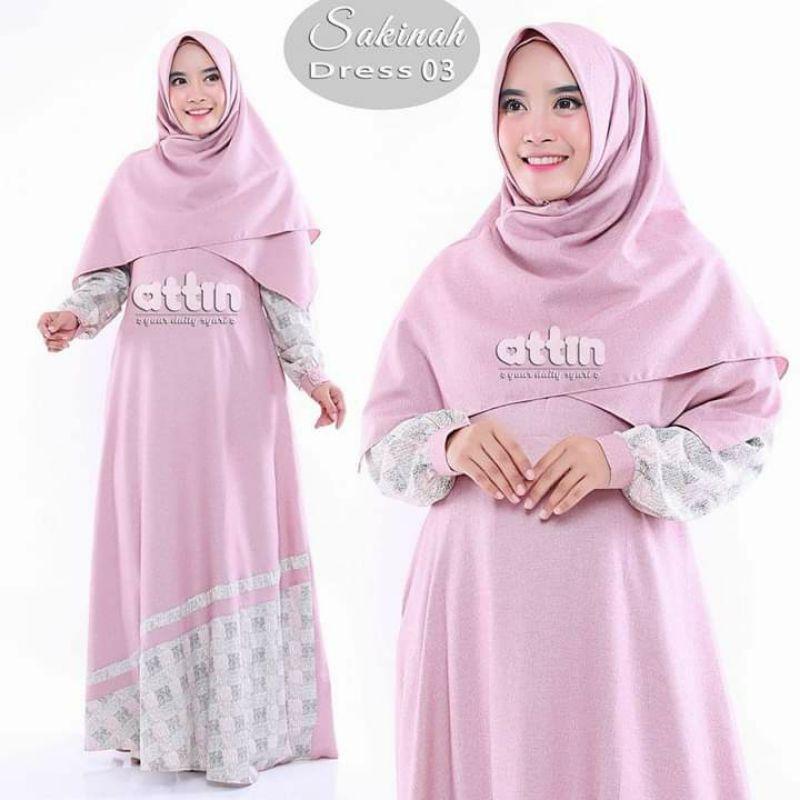 SAKINAH DRESS ATTIN/ORIGINAL GAMIS BY ATTIN/BUSANA WANITA MUSLIM