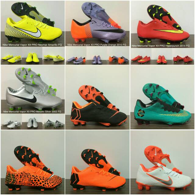 Sepatu Bola Desain Nike Mercurial Vapor XI FG CR7 Warna Abu-abu 100%  asli  Tersedia   81b9e1b0f0