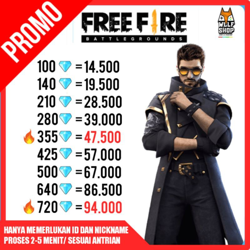 TOP UP DIAMOND FF MURAH