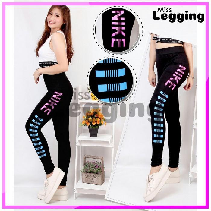 Celana Legging Sablon Nike Celana Olahraga Celana Senam Celana Gym Celana Zumba Celana Jogging Shopee Indonesia