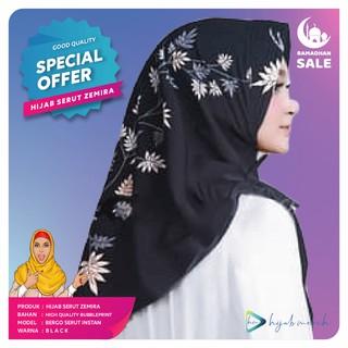 Hijab Kerudung Jilbab Brukat Khimar Hijab Instan Kerudung Instan Jilbab Instan Bergo Serut Zemira Shopee Indonesia