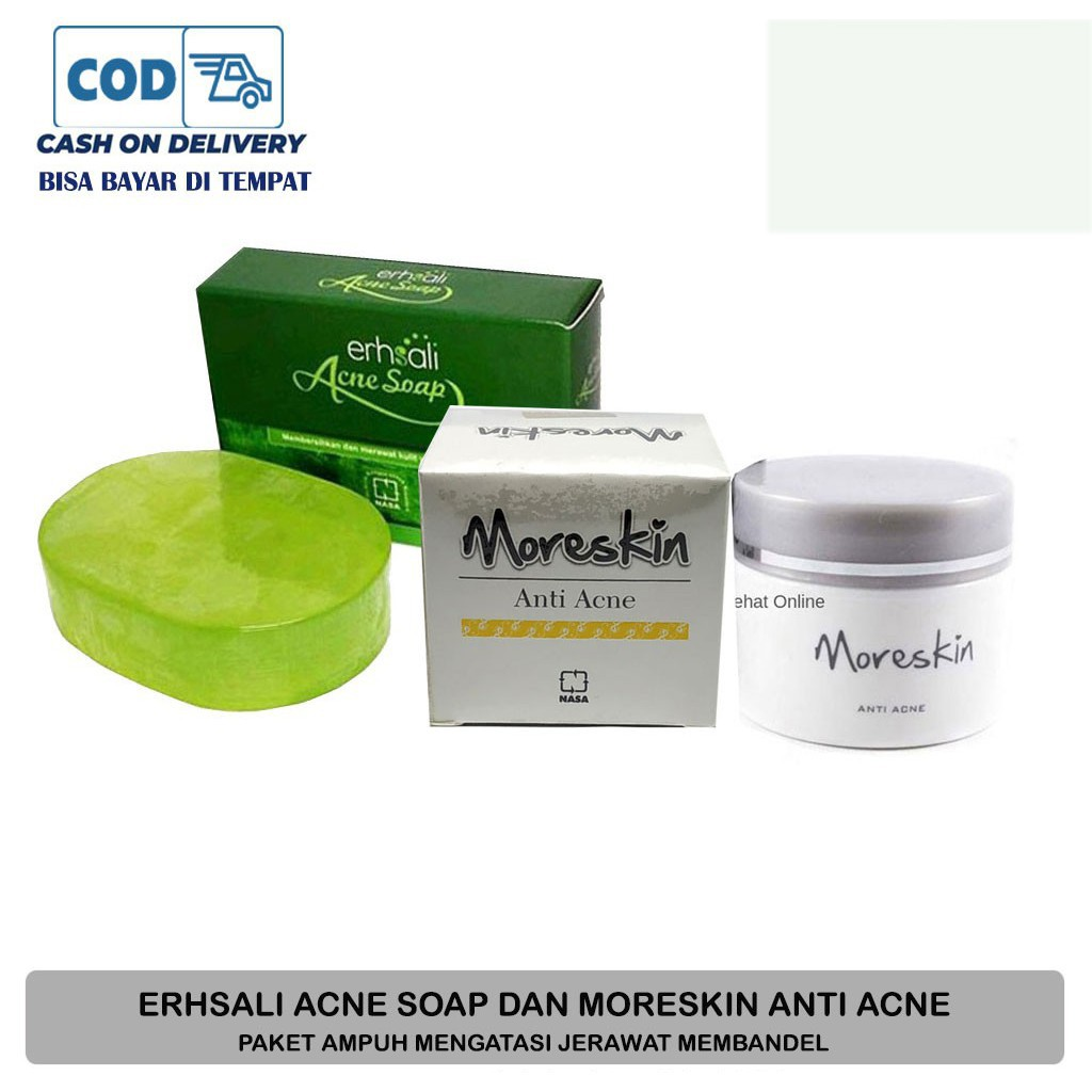 Paket Jerawat Ampuh Ershali Acne Soap Moreskin Acne