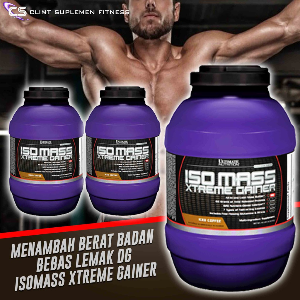 Ultimate Nutrition Un Isomass Xtreme Gainer 1012lbs Shopee Indonesia Iso Mass 10 Lbs Chocolate
