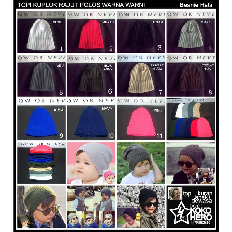 Restock AKSESORIS BRIMLESS PECI HIJRAH BEANIE MIKI MICKEY CAP CAPS KOPIAH tp1017 | Shopee Indonesia