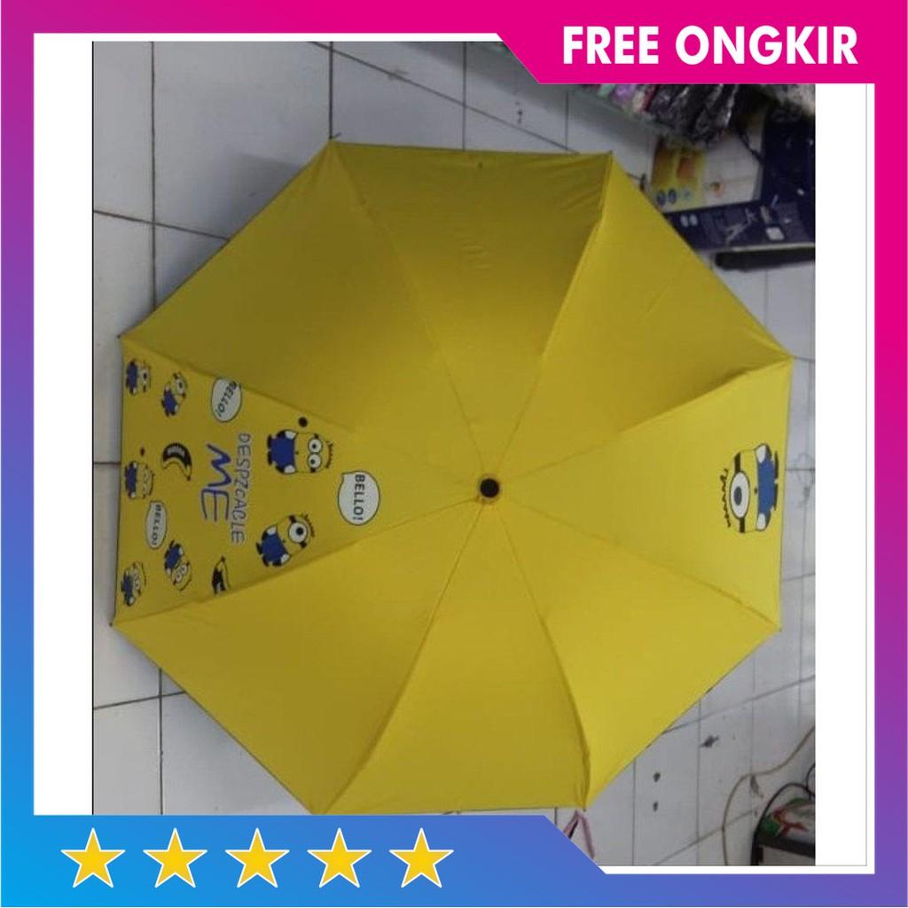 Jual Payung Lipat Gambar Karakter Minion Anak Payung Cantik Lucu Model B Murah