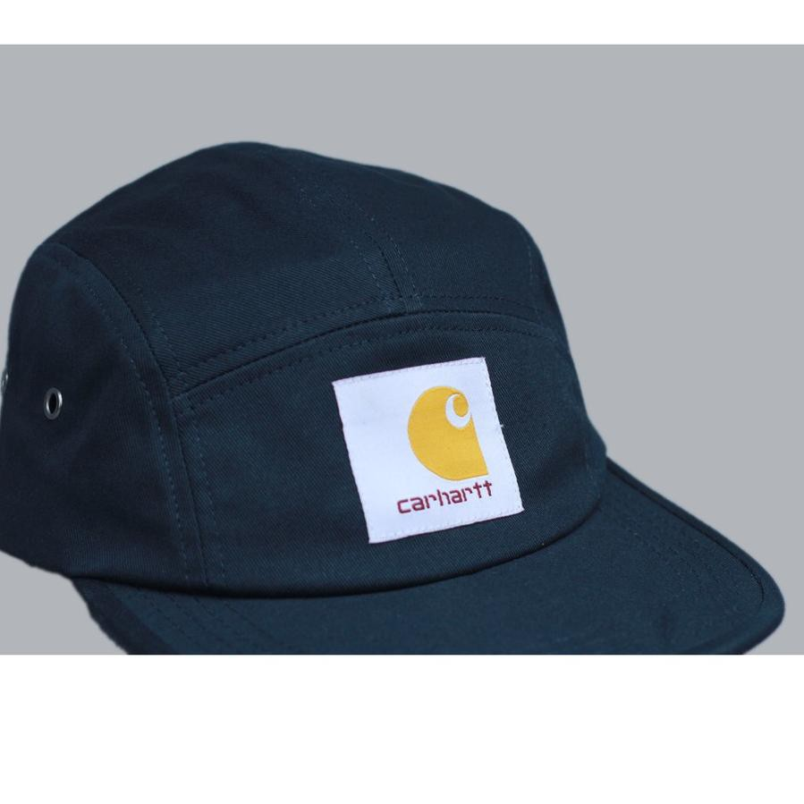 New Topi 5 Panel Carhartt WIP Backley Navy Full Tag Import Quality ,.,