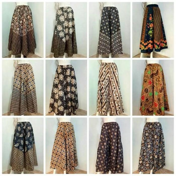 harga PROMO   Stelan Blouse Etnik dan Kulot batik (Celana Rok ) murah Ukuran JUMBO Shopee.co.id