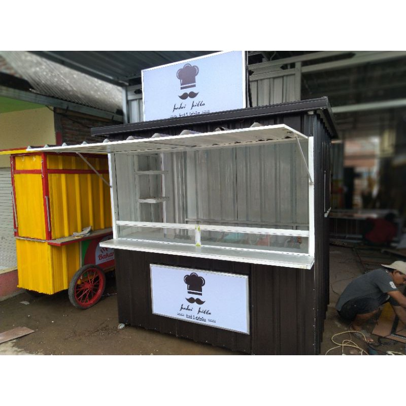 Booth Container / gerobak kontainer