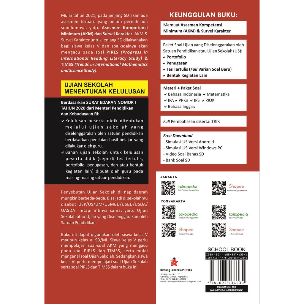 Buku Rujukan Ujian Sekolah Akm Survei Karakter Sd Mi 2021 New Shopee Indonesia
