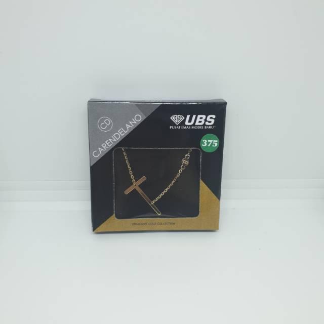 Kalung Emas 375 Alpha Beta Milea UBS Carendelano Huruf T