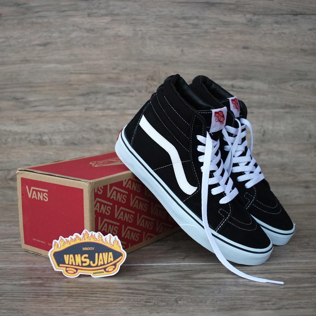 vansjava Sepatu Premium Terlaris Vans Sk8 Hi Black White Classic ... 7a4fefcbfc