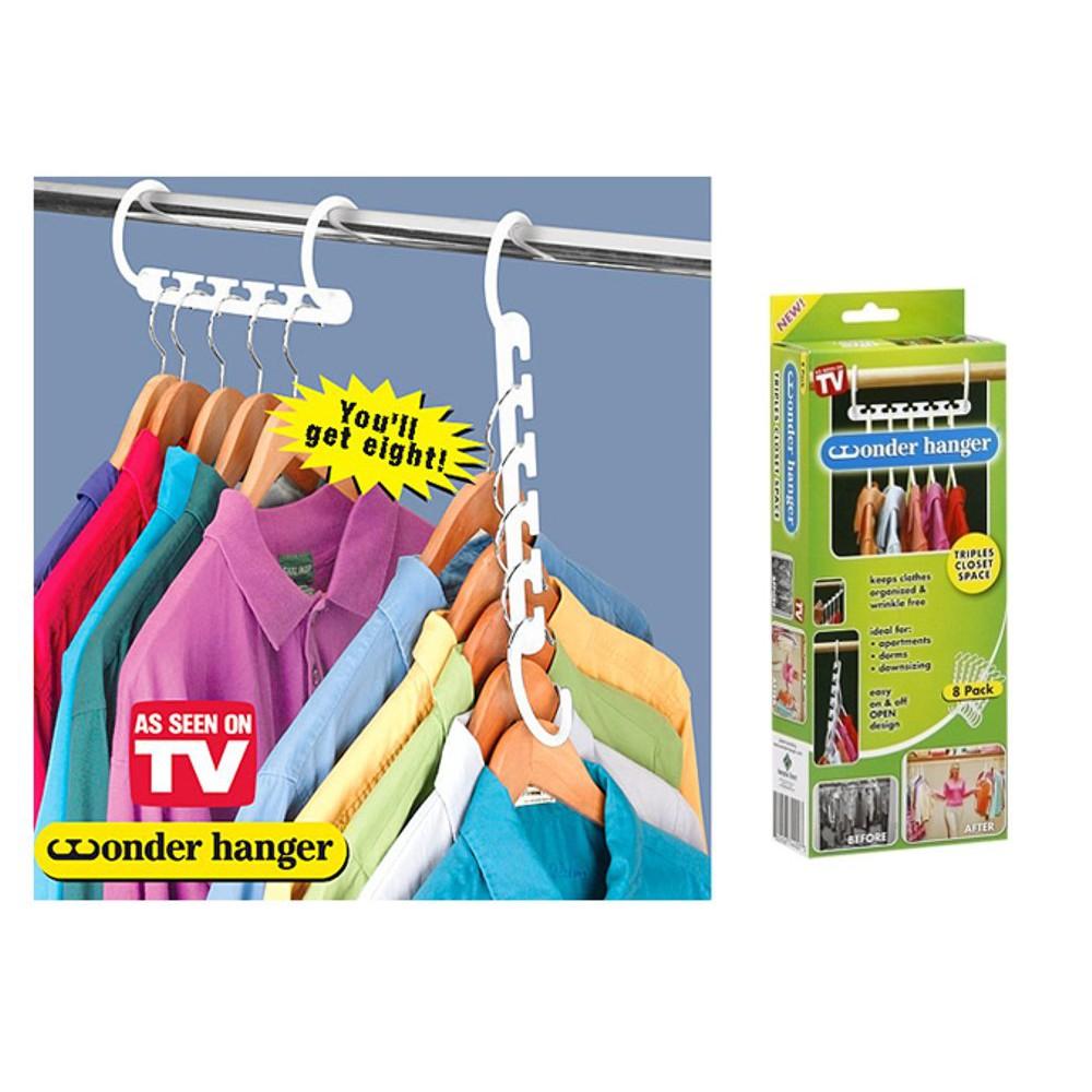 ... Gantungan Baju Serbaguna Pakaian / Kemeja Magic Wonder Hanger 5 Slot ...