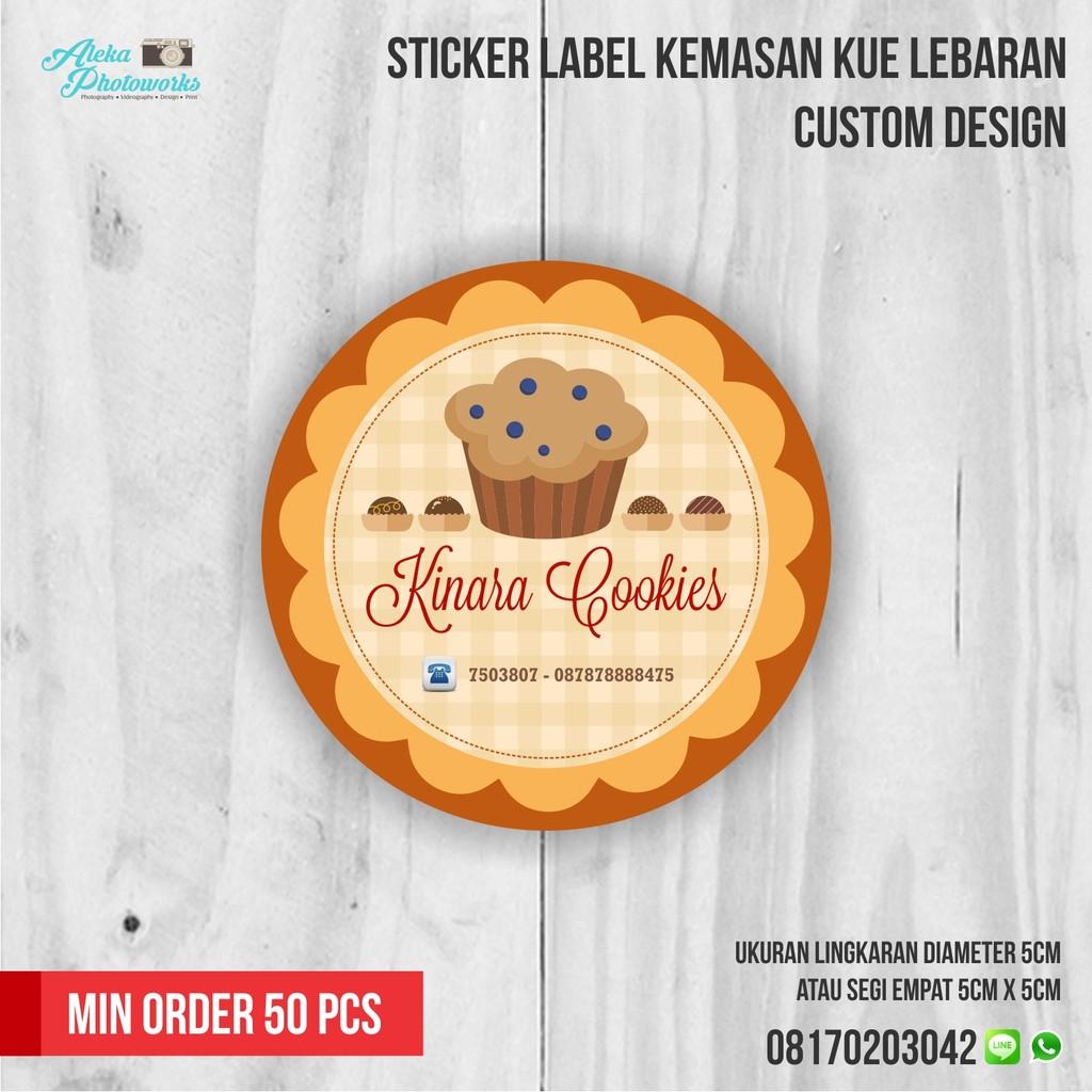 Sticker label kemasan kue lebaran