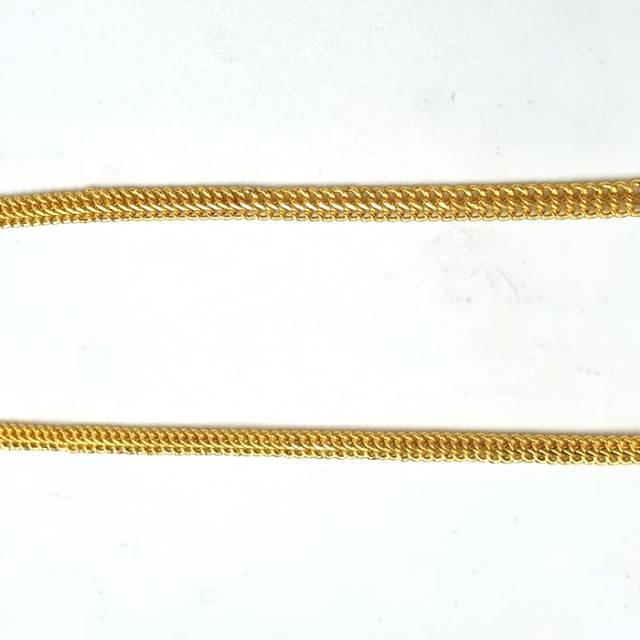 Kalung Holo double Chain Cantik Emas asli Kadar 875 berat 5 gram