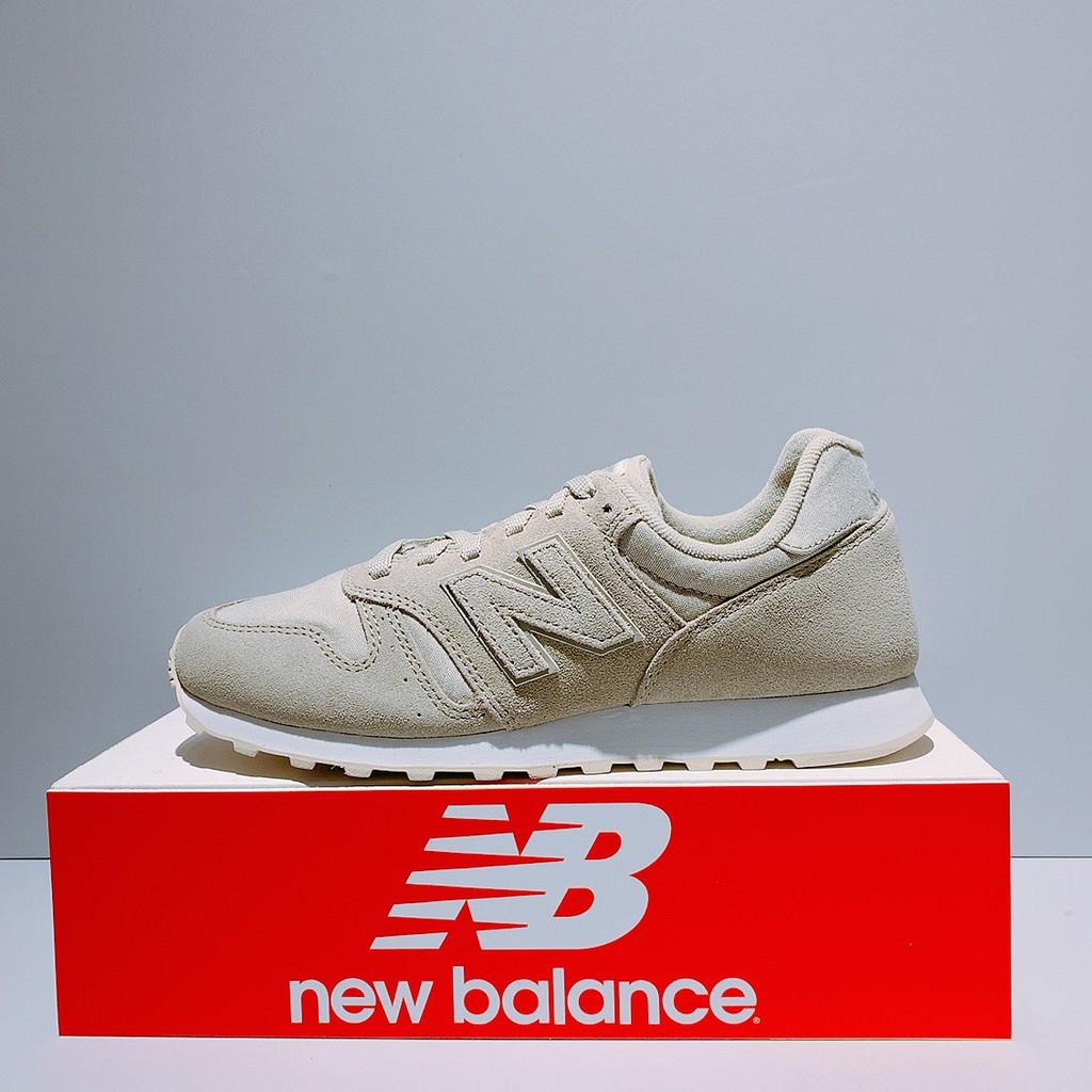 New Balance 373 Sepatu Sneakers Retro Casual Bahan Suede Warna Khaki
