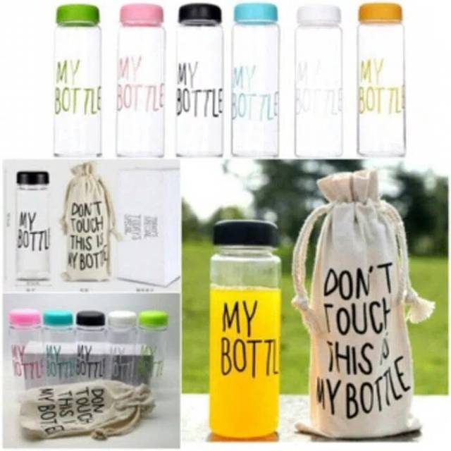 MY BOTTLE CLEAR / TRANSPARAN FREE POUCH | Shopee Indonesia -. Source · My Bottle NEW CLEAR Botol Warna Warni 500ml ...