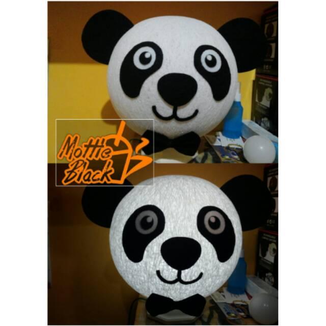 Lampion benang Lampu tidur Karakter Panda