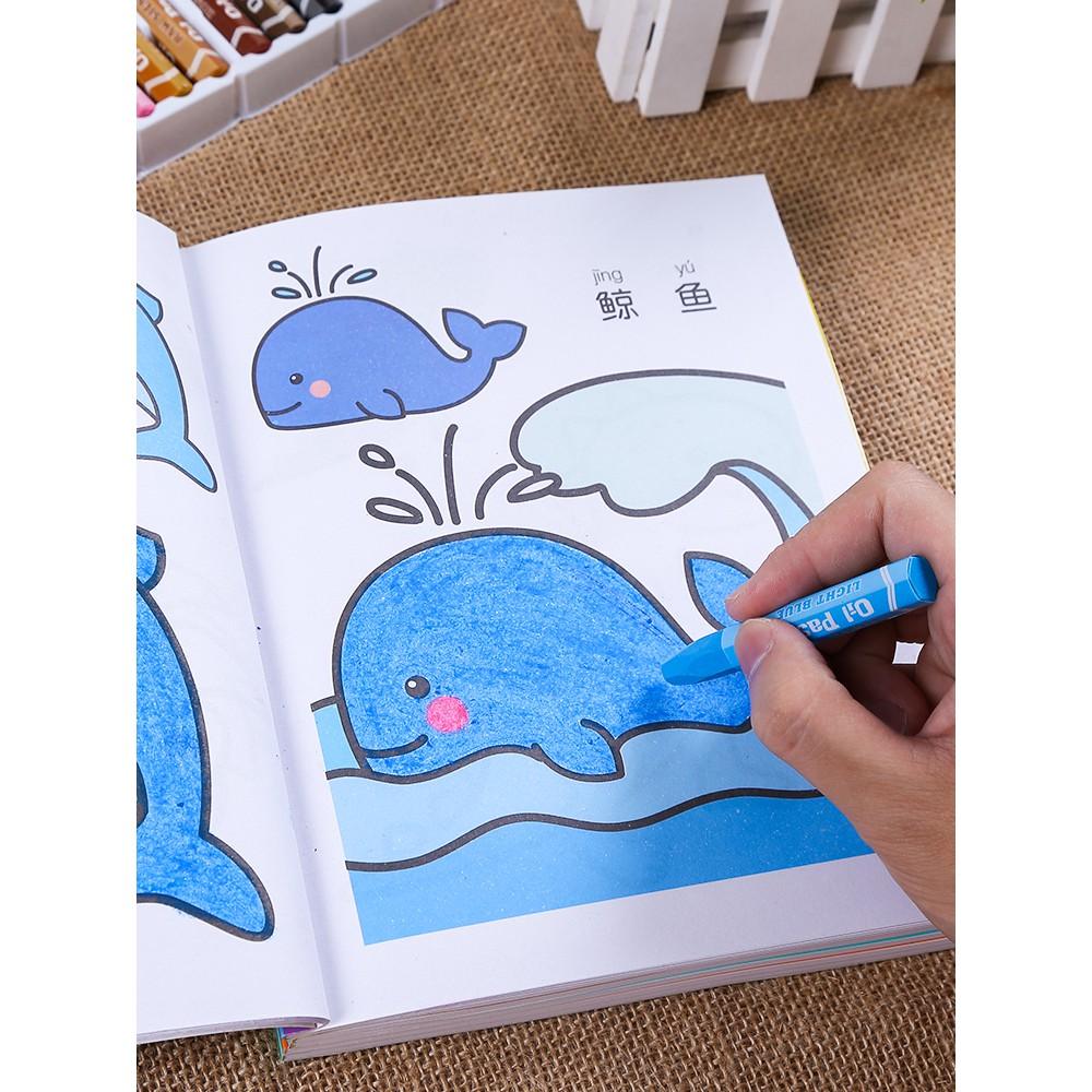 Buku Mewarnai Anak Anak Mewarnai Gambar Buku Lukisan Gambar Bayi TK Pencerahan E