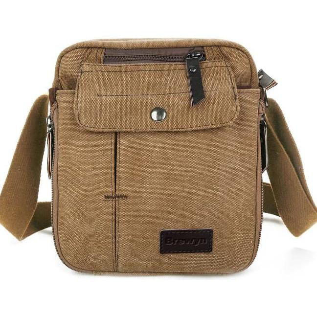 Hot Promo Brewyn Multi-Compartment Canvas Messenger Bag   Tas Messenger