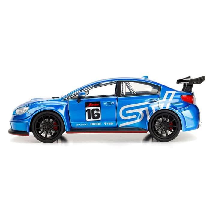 Subaru Wrx Sti 2016 Metallic Blue /'JDM TUNERS/' 1:32 Model JADA TOYS