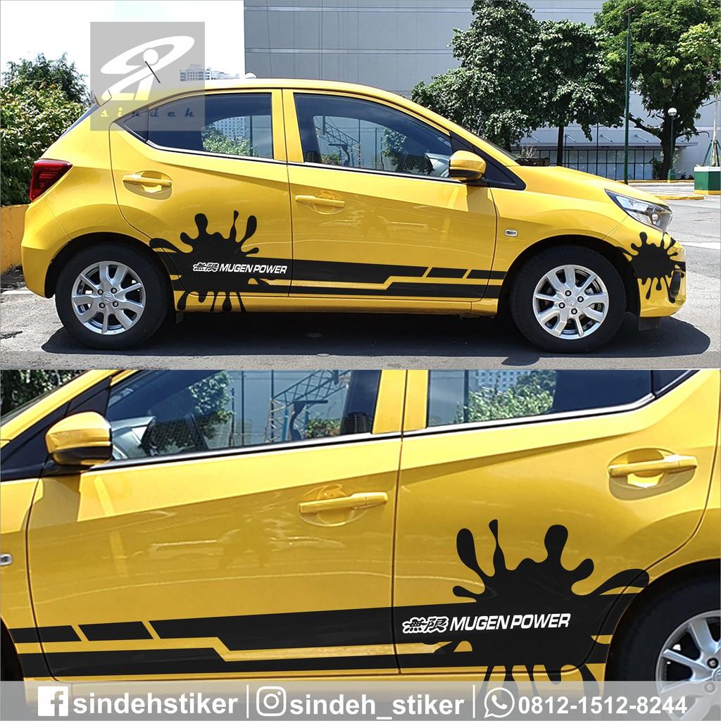 Cutting Sticker Mobil Brio Hrv Jazz Brv Mobilio Crv Stiker Mobil Striping Keren Shopee Indonesia