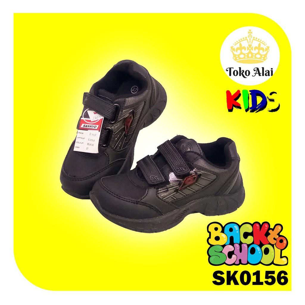 Sepatu Sekolah Sd Smp Sankyo S 218v Tinggi Tali Rekatan Murah
