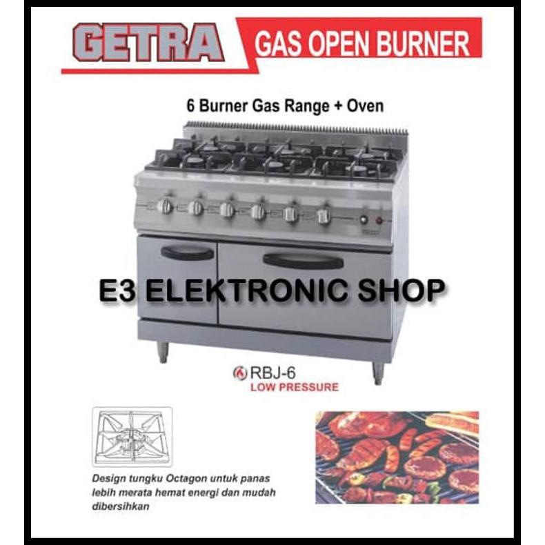 Getra Kompor 6 Burner Gas Range Plus Oven Rbj 6 Shopee Indonesia