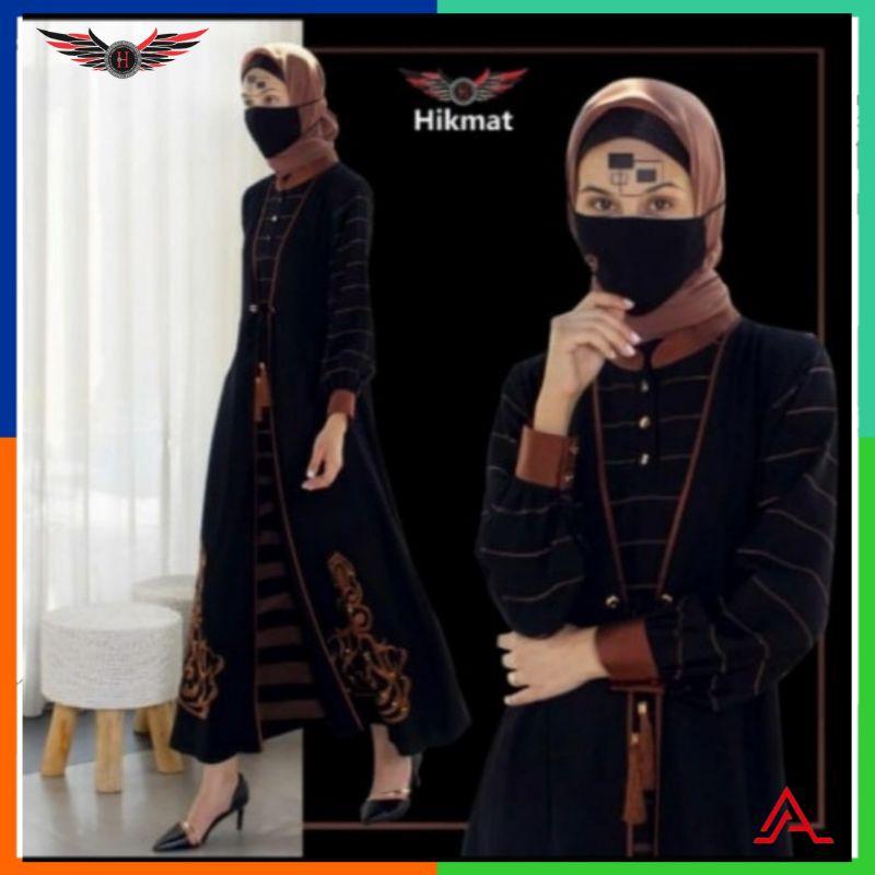 [A9622] GAMIS ABAYA HIKMAT / Gamis / Syar'i / Fashion