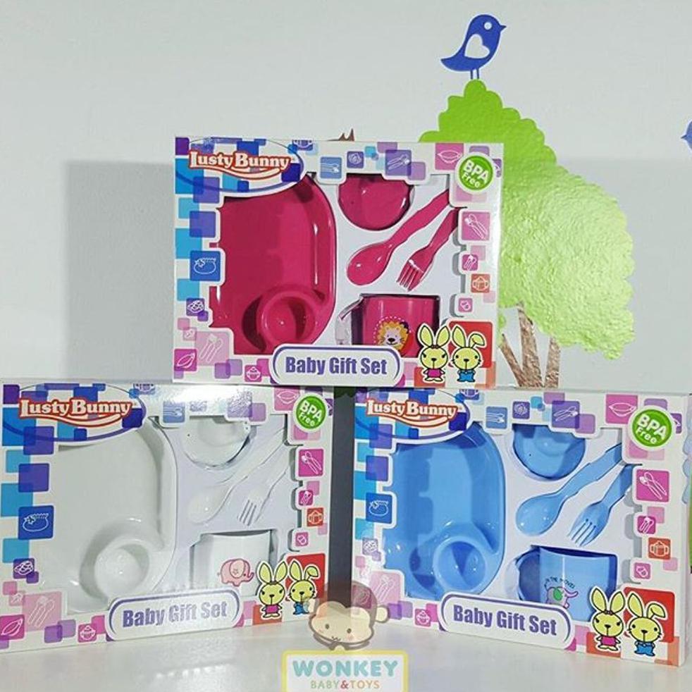 ... Bpa Free Peralatan Makan Minum Perlengkapan Bayi Plate 5in1 Lb. Source · Lusty Bunny Baby Feeding Gift Set .