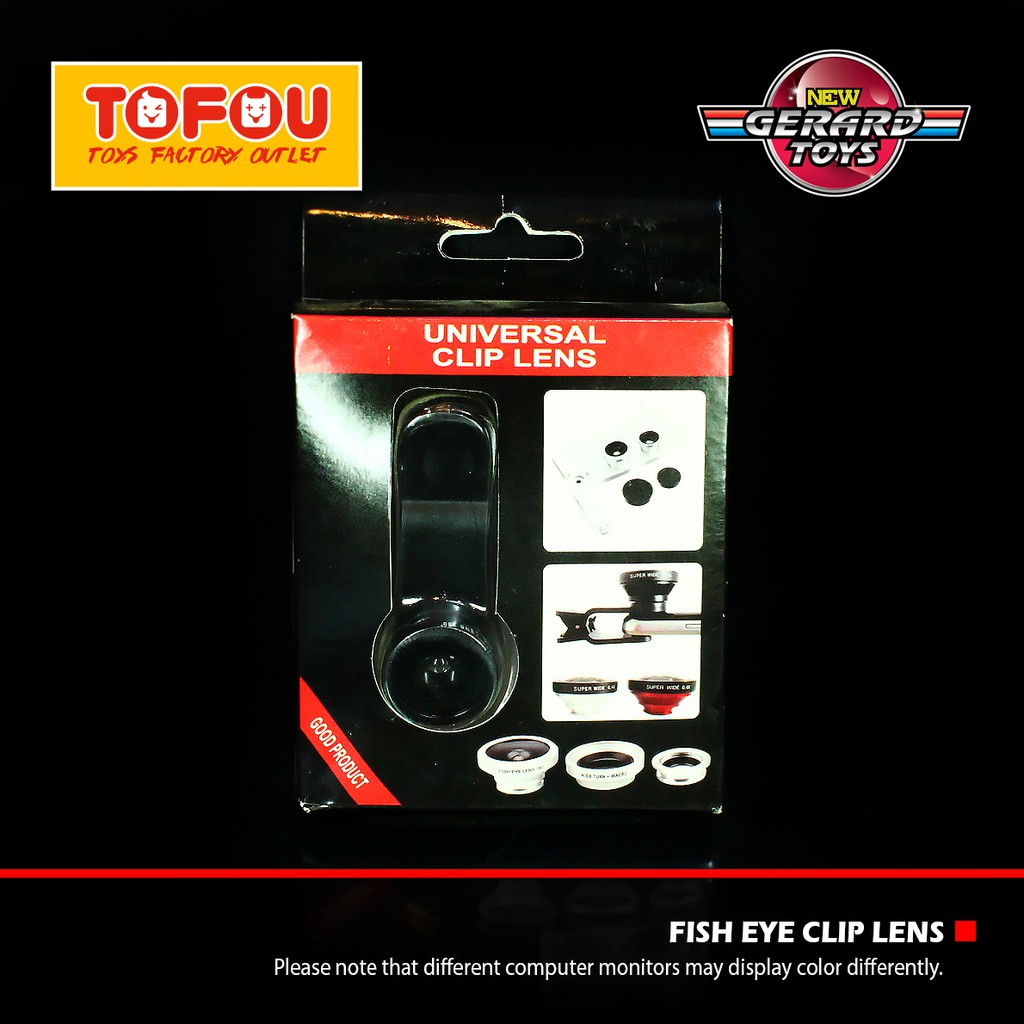 Universal Clip Lens 3 In 1 Macro Wide Fish Eye Shopee Indonesia Good Product Macrowidefisheye Hitam