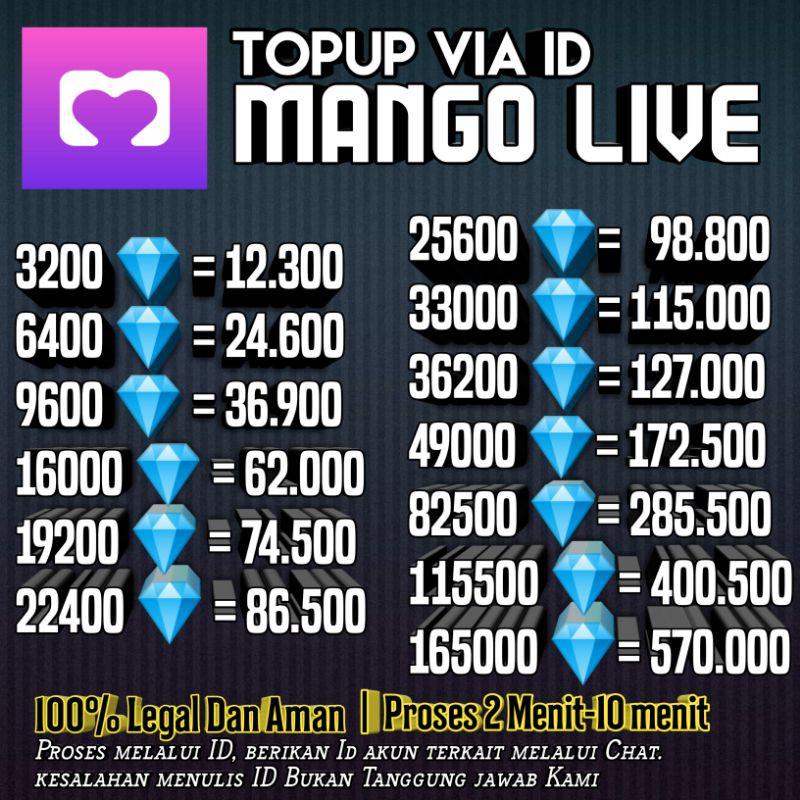 Top up Mango live ID