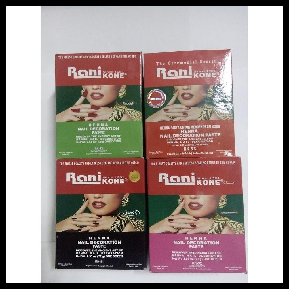 Besar 30gr Rani Kone Merah Henna Cat Kuku Halal Hyenna Shopee