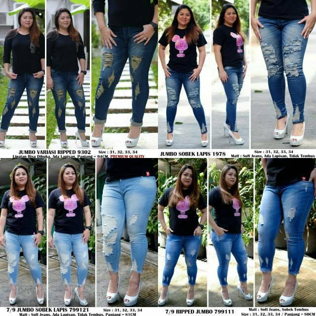 109d98541ab BF RIPPED 7per9 grosir celana jeans bigsize sobek putih hw highwaist  cutbray boyfriend wanita murah